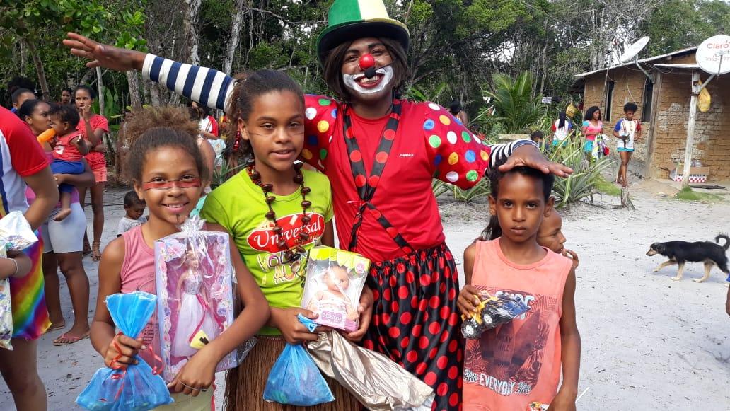 Projeto Criança Feliz promove atividades com crianças indígenas no sul da Bahia