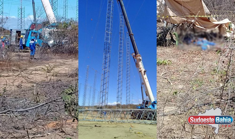 Queda de torre de transmissão deixa 2 mortos em Caetité