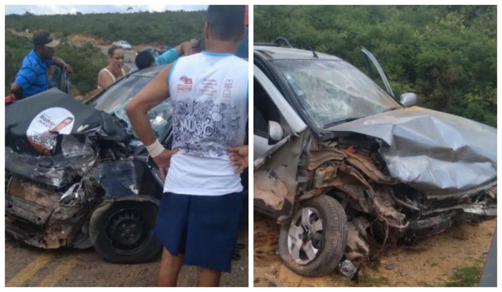 Mulher morre e 2 pessoas ficam feridas em acidente na BA-611, em Caetité