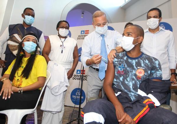 Bahia aplica 21.760 doses no sábado; total chega a 78.587 vacinados