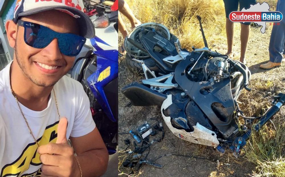Jovem morre após perder controle de moto e cair na BR-030 em Guanambi