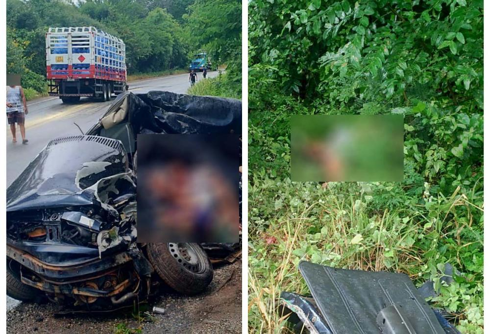 Quatro pessoas da mesma família morrem em acidente na BR-030, em Caetité