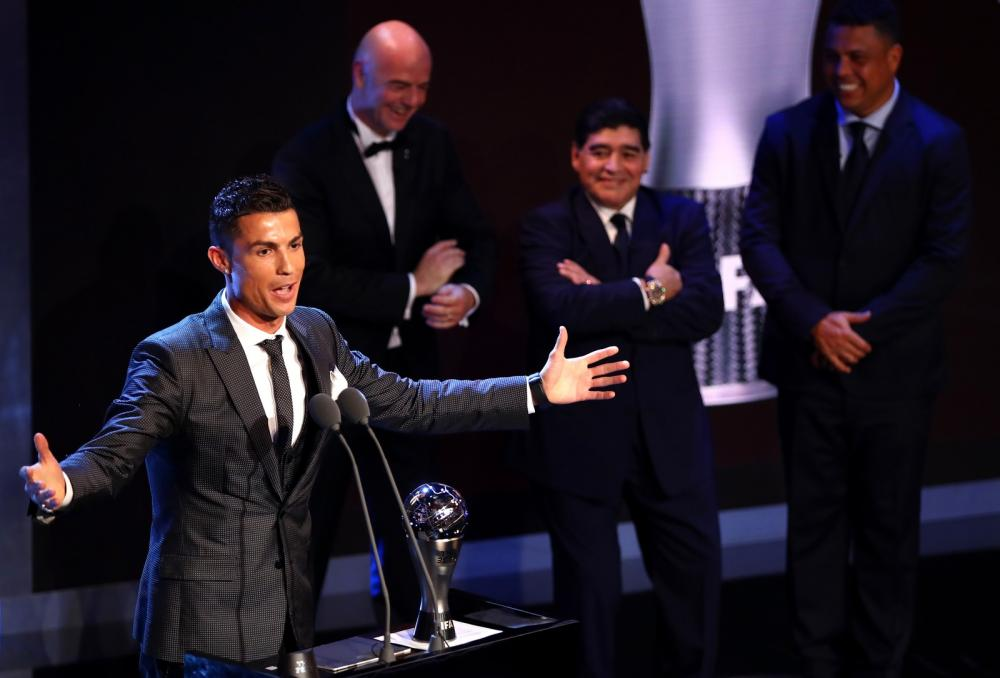 Pela quinta vez, Cristiano Ronaldo é eleito melhor do mundo pela Fifa