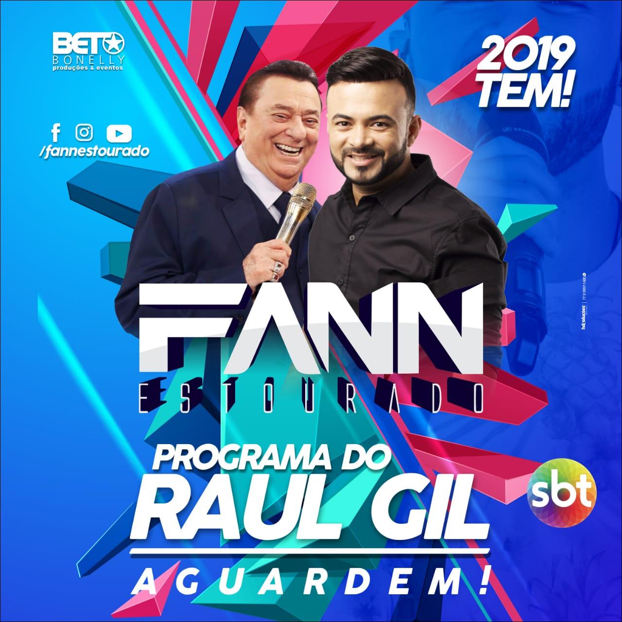Confirmada a apresentação em 2019 de Fann Estourado no Programa Raul Gil do SBT