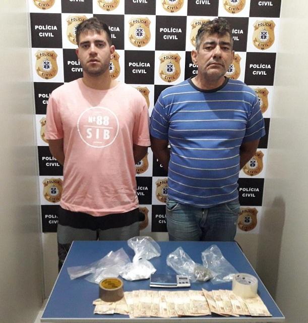 Sudoeste baiano: Pai e filho são presos em flagrante suspeitos de tráfico de drogas