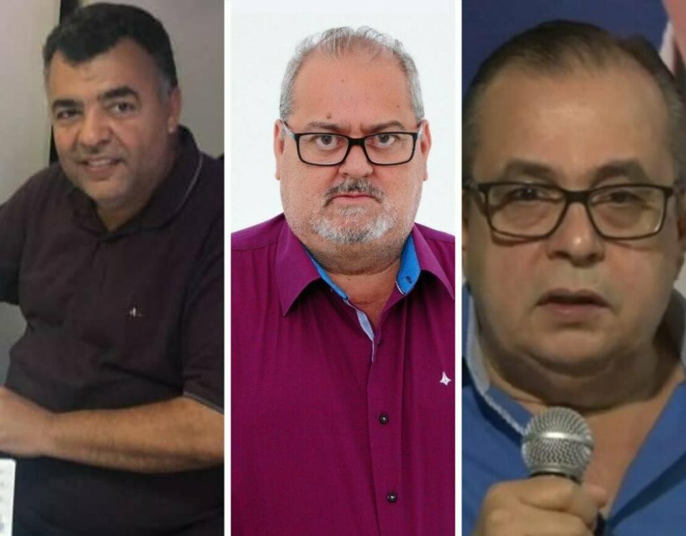 Da esquerda para direita: Ricardo Ribeiro, Francisco Rocha e Carlos Batista