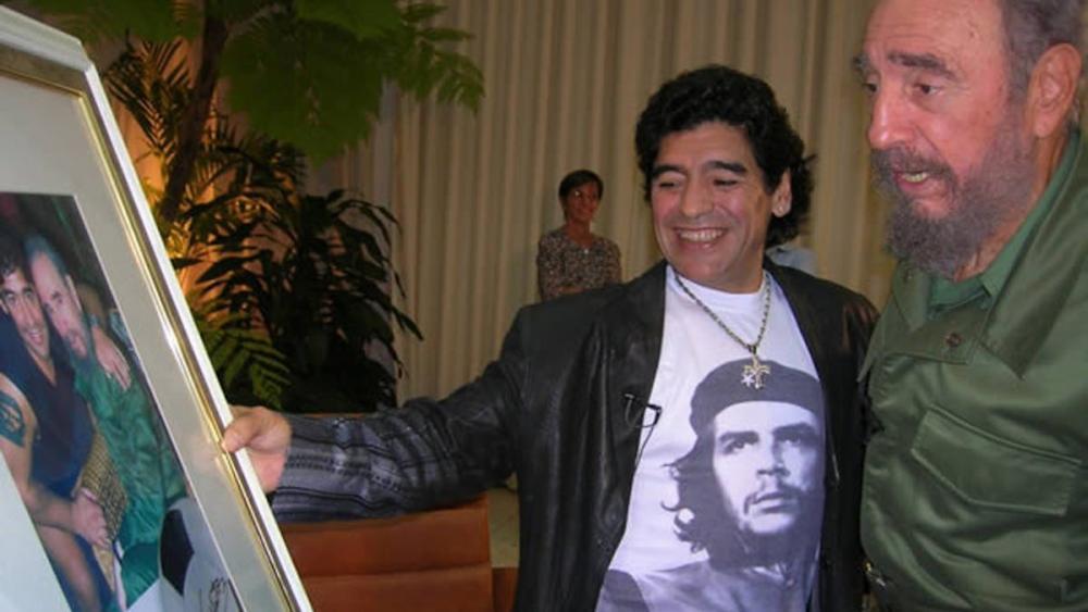 Maradona e Fidel Castro. Foto: reprodução