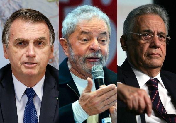 Bolsonaro sugere possível chapa entre Lula e FHC e ataca: 'Ladrão e vagabundo'